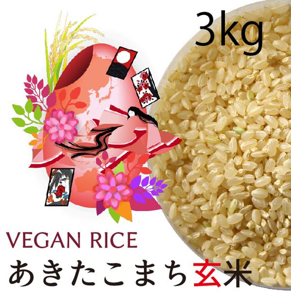 あきたこまち玄米3㎏