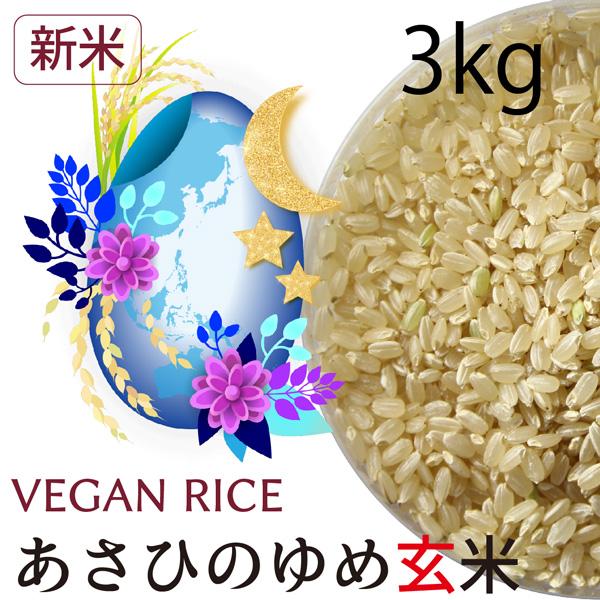 【新米】あさひの夢玄米3㎏