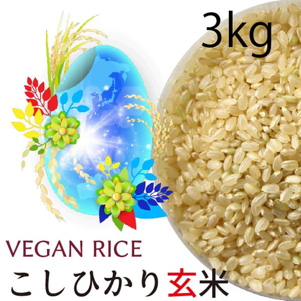 コシヒカリ玄米 3kg